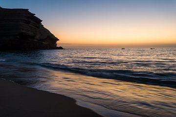 Sonnenuntergang am Meer von Marijn Goud