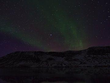 Noorderlicht boven Snæfellsnes van Timon Schneider