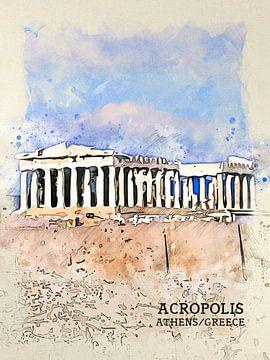 Akropolis van Printed Artings