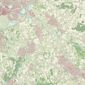 Kaart vanSint-Michielsgestel van