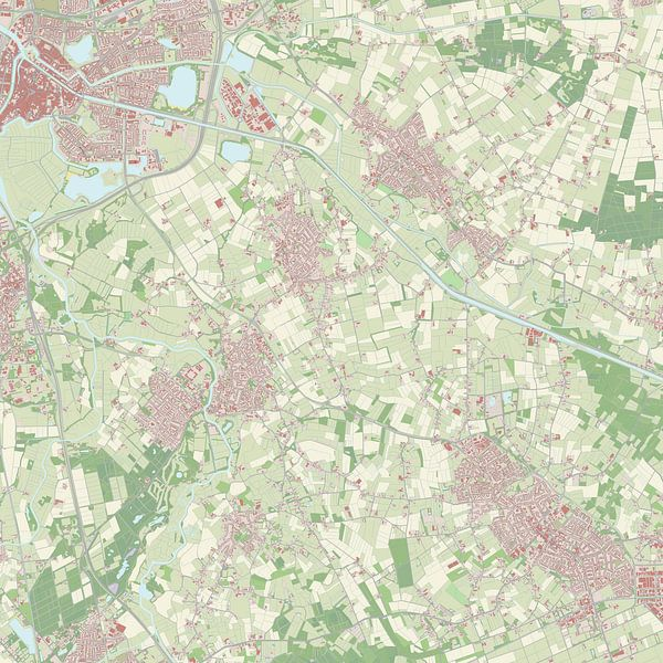 Kaart vanSint-Michielsgestel van Rebel Ontwerp