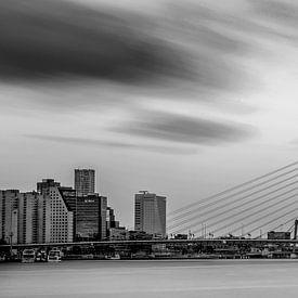 Skyline van Rotterdam in zwart-wit van Miranda van Hulst