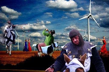 Don Quichot in de strijd met de Nieuwe Reuzen van Bert Burkhardt