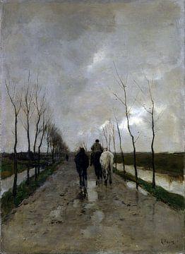 Anton Mauve - A Dutch Road sur Meesterlijcke Meesters