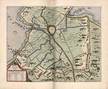 Hulst, Stadsplattegrond Joan Blaeu 1652 van Atelier Liesjes