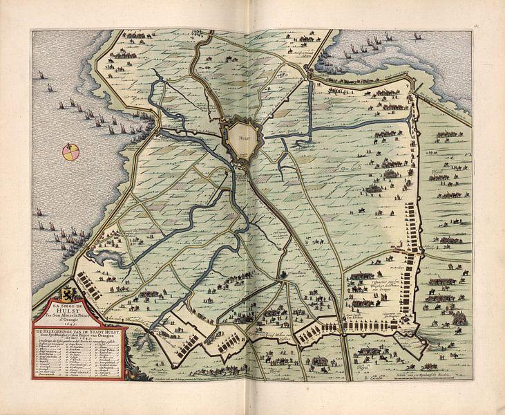 Stechpalme, Stadtplan Joan Blaeu 1652 von Atelier Liesjes