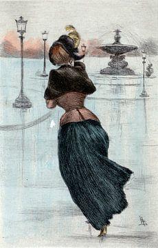 Mode 1884, Mode in het negentiende-eeuwse Parijs, Henri Boutet, (1851 1919) van Liszt Collection