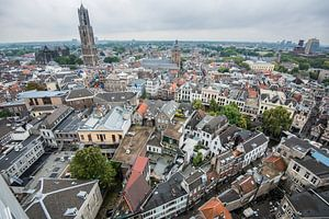 Uitzicht over de binnenstad van Utrecht.