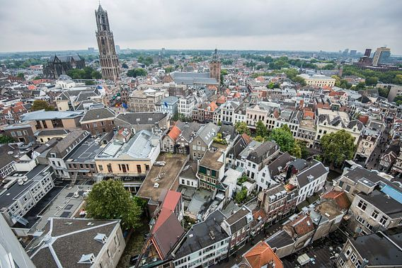 Uitzicht over de binnenstad van Utrecht. van De Utrechtse Internet Courant (DUIC)