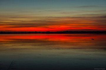 Zonsondergang. van Albert Hoogendoorn