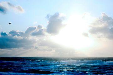Sylt: Blue water, waves van Norbert Sülzner