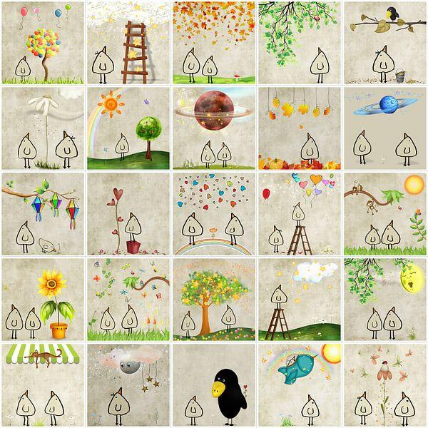 Pigeon collage 1 sur Marion Tenbergen