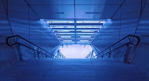 Reizigers Terminal in blauw