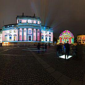 Bebelplatz Panorama - Nachts in besonderem Licht von Frank Herrmann