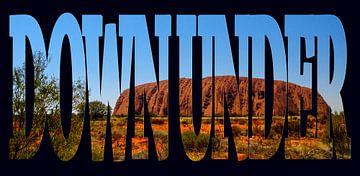 Down Under, Uluru, symbole de l'Australie sur Rietje Bulthuis