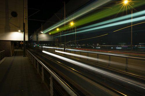 Amsterdam by Night - Moving Tram van