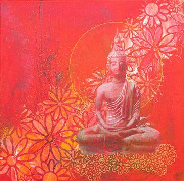 Boeddha Red II von Helma van der Zwan