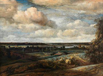 Hollands Panoramalandschap met een ver uitzicht op Haarlem, Philips Koninck
