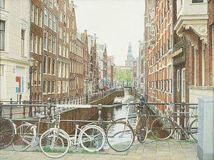 Schilderij: Amsterdam, Oudezijds Kolk van Igor Shterenberg