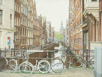 Schilderij: Amsterdam, Oudezijds Kolk sur Igor Shterenberg