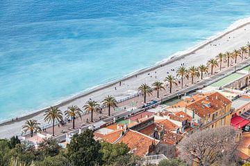 Strand und Meer in Nizza an der Côte d'Azur von Martijn Joosse