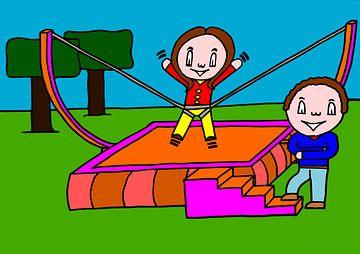 Suz kermis trampoline van AG Van den bor