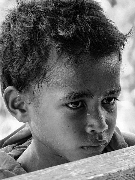 Young Sentani Lake island boy van Global Heartbeats