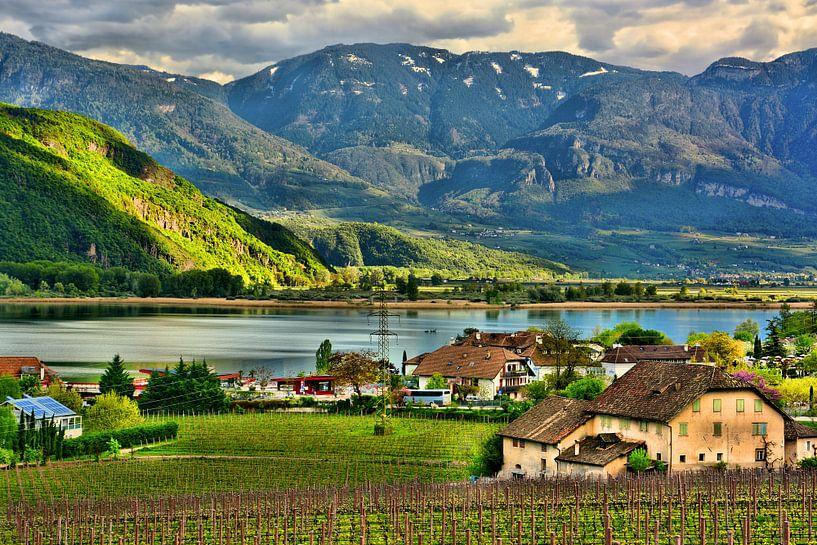 Lake Caldaro in South Tyrol van Gisela Scheffbuch