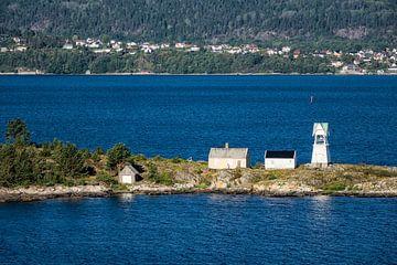 Leuchtturm im Oslofjord von Rico Ködder