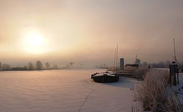 Warmes Glühen an einem kalten Wintermorgen