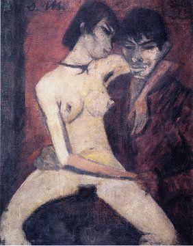 Liebespaar, Otto Mueller - ca.1920 von Atelier Liesjes