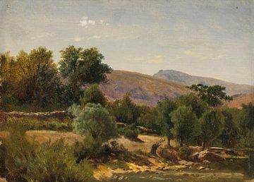 Carlos de Haes-Zypressenwald, Antike Landschaft