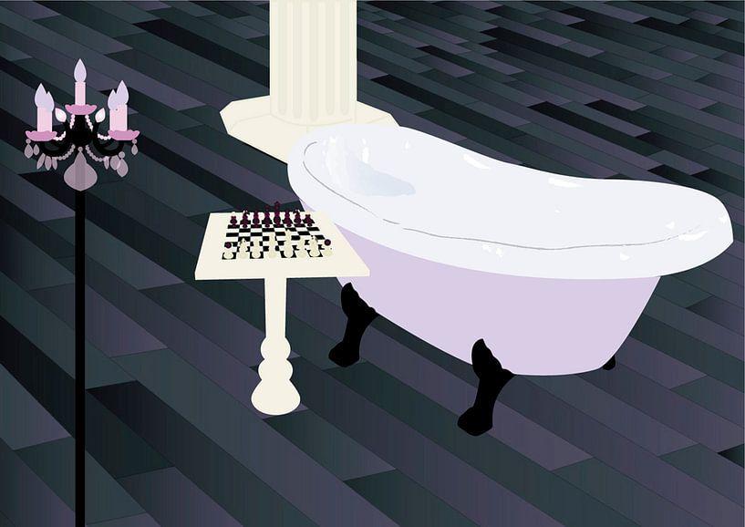 Schach in Bad von Tania Vens