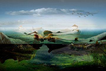 Imaginair landschap van Marijke van Loon
