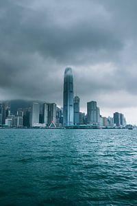 Wolken boven Hong Kong Island van Quinten van Hoffe