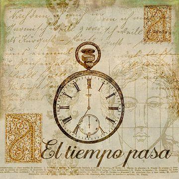 Vintage Collage Met Horloge van Andrea Haase
