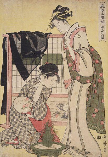 Ca bon no zu = [Picture of the middle class], Kitagawa, Utamaro (1753?-1806), (Artist), Date Created van Liszt Collection