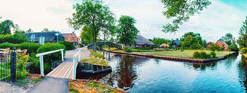 summer panorama of  dutch village van Ariadna de Raadt