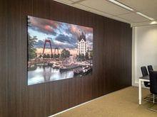 Klantfoto: Witte Huis in Rotterdam van Lorena Cirstea, op canvas