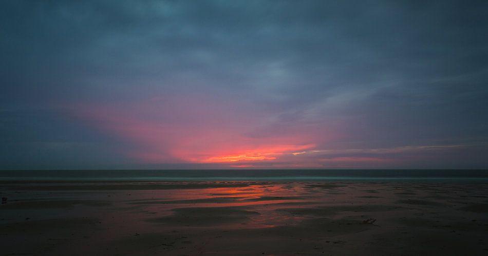Zonsondergang strand Domburg