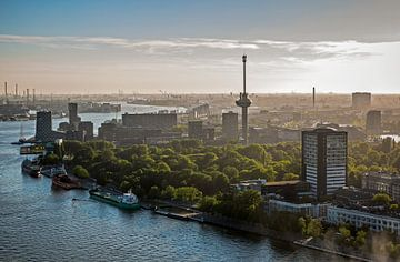 Het stadsgezicht van Rotterdam van