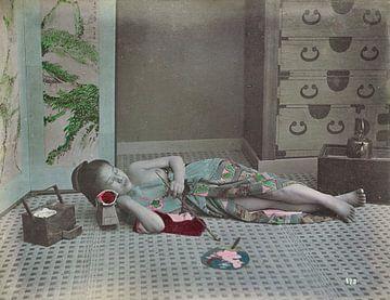 Frau aus Japan, Vintage-Foto