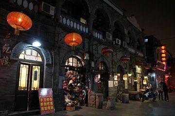 Winterse sfeer in de Hutong van Beijing van Ben Nijhoff