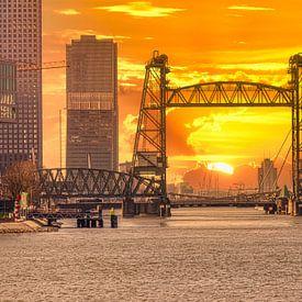 Einzigartiger Sonnenuntergang De Hef, Rotterdam von Martijn Mureau