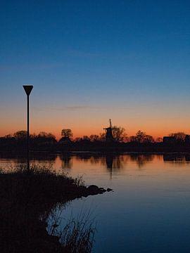 Molen Welsum over de IJssel van Foto Arend-Jan