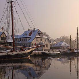 Een winterochtend in de haven van Werner Reins
