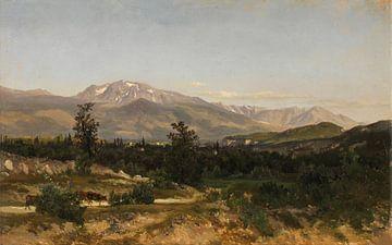 Carlos de Haes-Weg Landschaft zurück zum Dorf, ländliche Idylle, antike Landschaft
