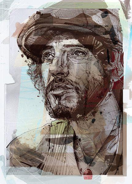 Bruce Springsteen pop-art van Jos Hoppenbrouwers