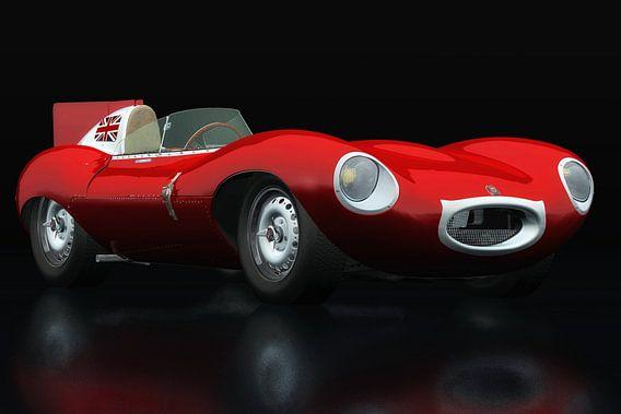 Jaguar Type D 1956 Rood driekwart aanzicht