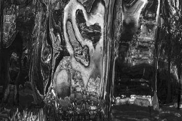 Zwart/Wit Abstract 1 van Alice Berkien-van Mil